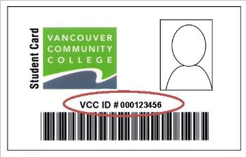 VCC Student ID card 2016